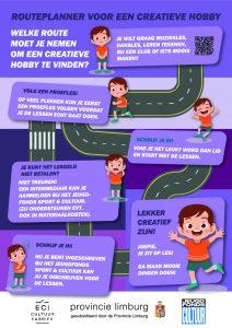afbeelding flyer met de route naar een creatieve hobby