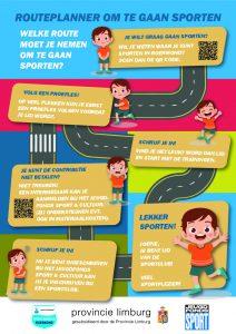 afbeelding flyer met de routeplanner om te gaan sporten