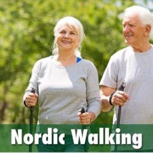 afbeelding over nodic walking met een link naar het aanbod voor meer bewegen voor ouderen.
